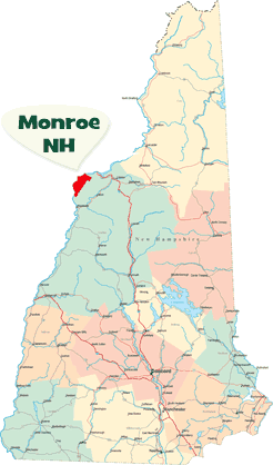 Monroe located in NH State Map